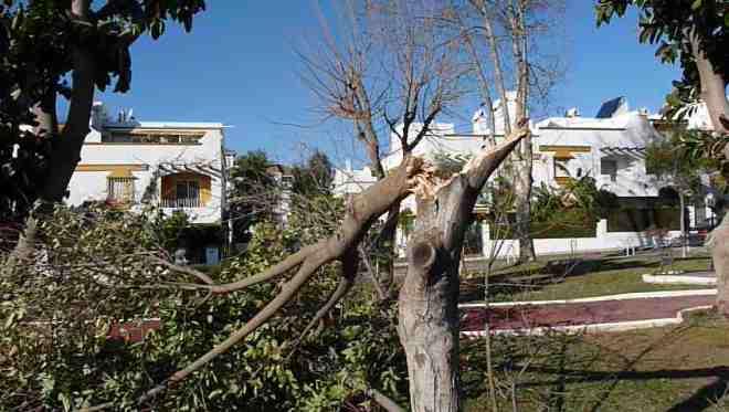 Storm - vejret i Spanien
