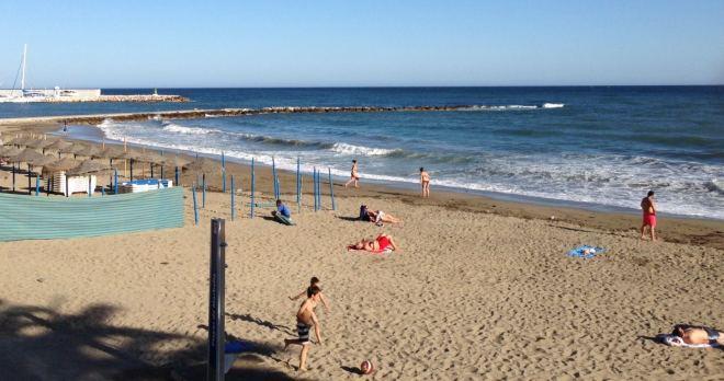 Sommer i Spanien - Marbella strand